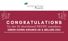 Ten NEUPC members are finalists of the Green Gown Awards